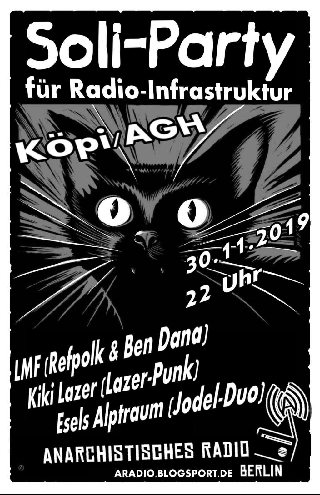 Soliparty in der Köpi/AGH am 30.11.2019!